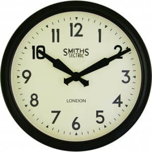 Smiths Sectric Black Clock