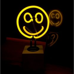 Neon Smiley Face Table Lamp