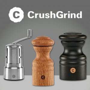 CrushGrind Salt and Pepper Grinders