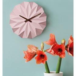 Karlsson Origami Ceramic Wall Clock Pink