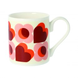 Orla Kiely Love Hearts Quite Big Mug Pink