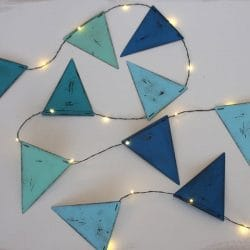 Hurn & Hurn Discoveries Blue Bunting LED String Lights Indoor/Outdoor
