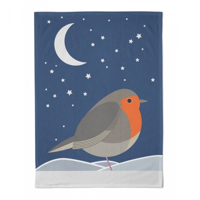 I Like Birds Robin Tea Towel