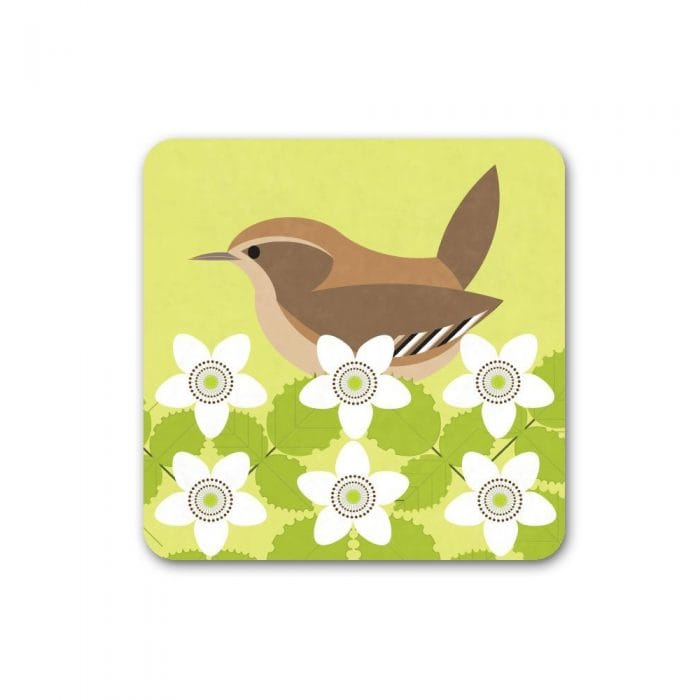 I Like Birds Wren Coasters Set Of 4