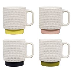 Orla Kiely Pressed Flower Stacking Mugs Set Of 4