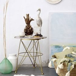 Bloomingville Fleur De Sel Marble & Gold Side Table