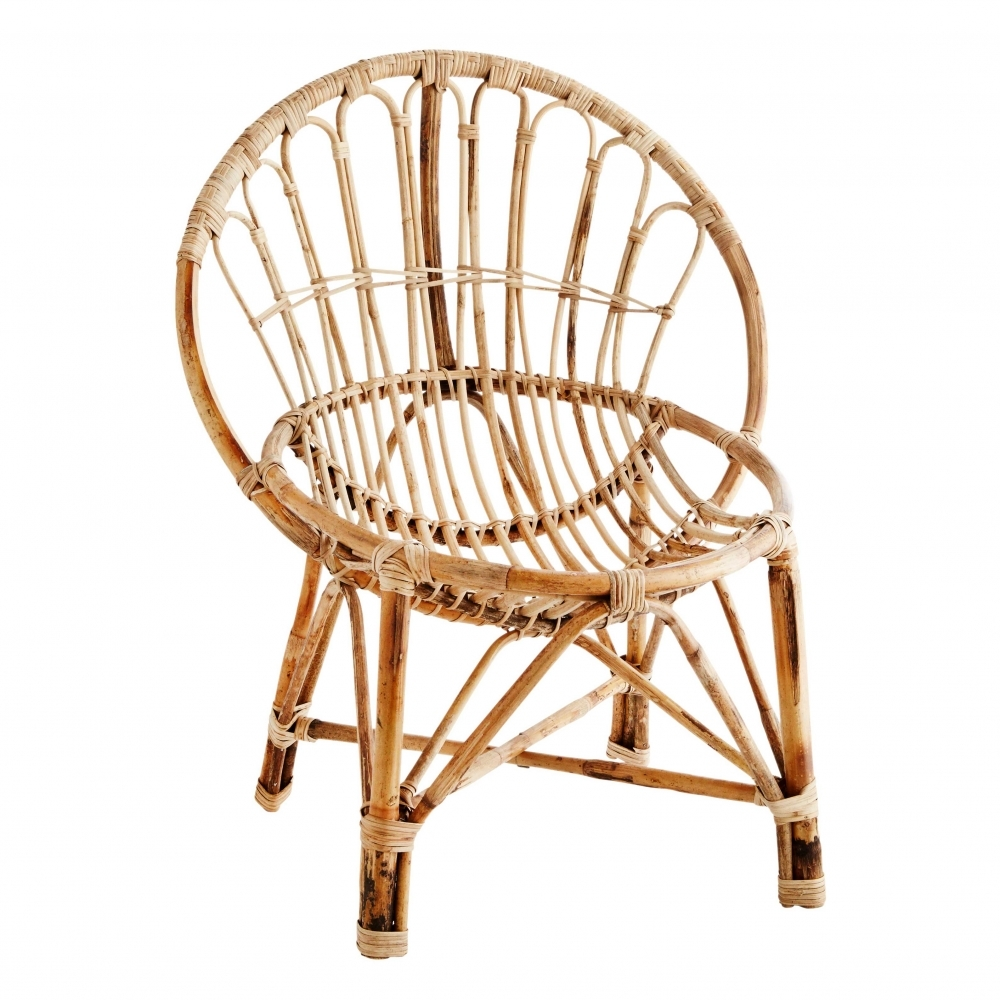 Madam Stoltz Handcrafted Natural Bamboo Cane Chair