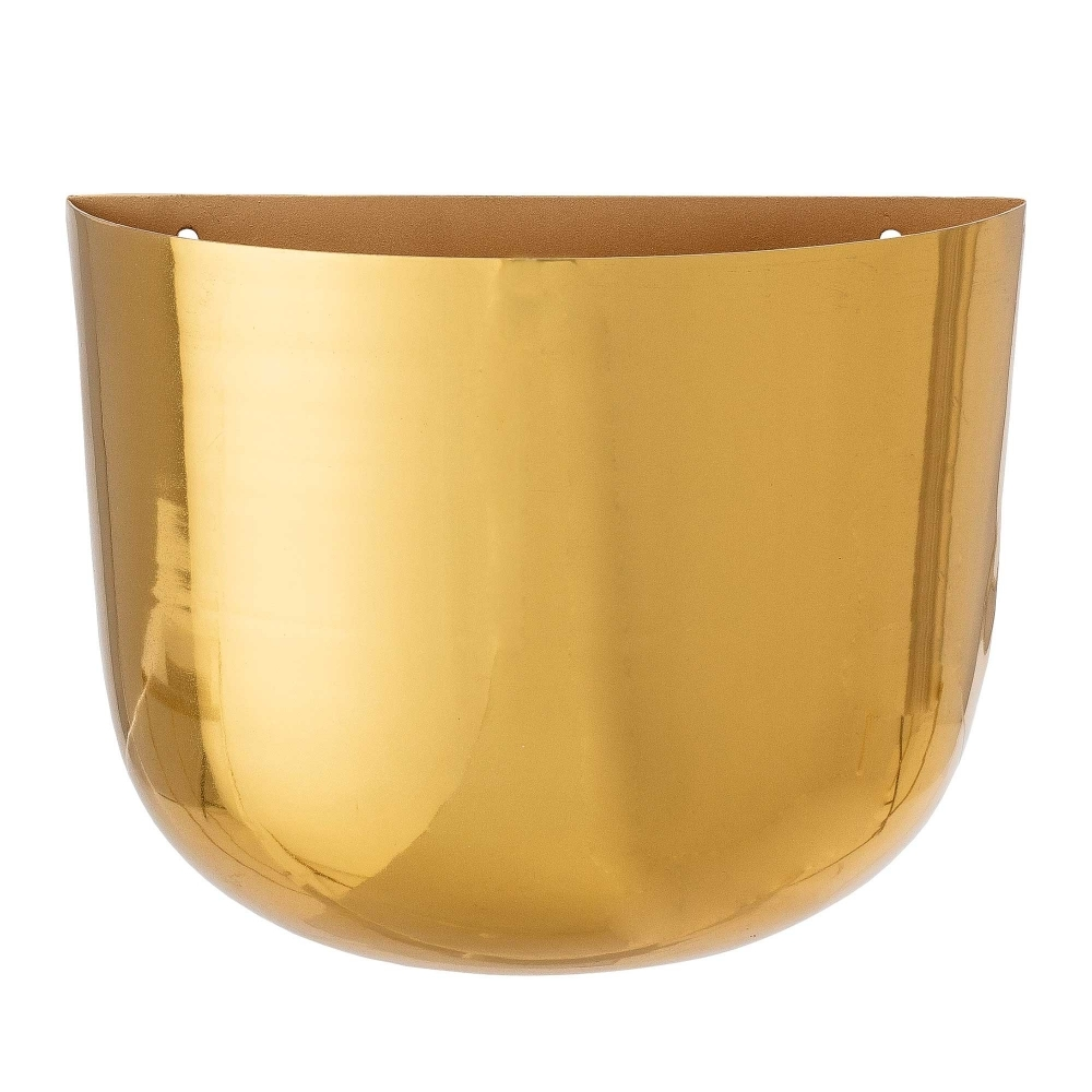 Bloomingville Brass Gold Wall Hanging Plant Pot