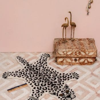 Doing Goods Snowy Leopard Small Rug