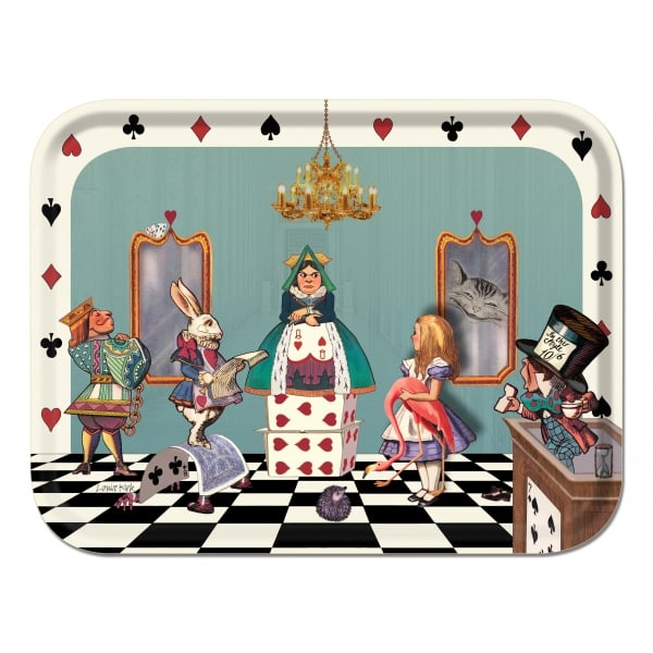 Alice In The Court Of Hearts Tray Louise Kirk