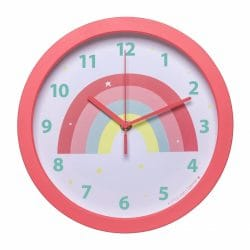 A Little Lovely Coral Rainbow Children's Wall Clock