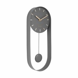 Karlsson Charm Pendulum Clock Grey