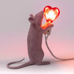 Seletti Special Love Edition Pink Mouse Lamp