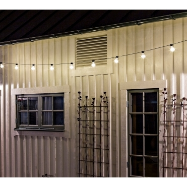 20 Clear Warm White LED Festoon String Lights - Outdoor