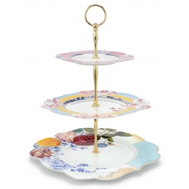 3 Tier Cake Stand Multicolour