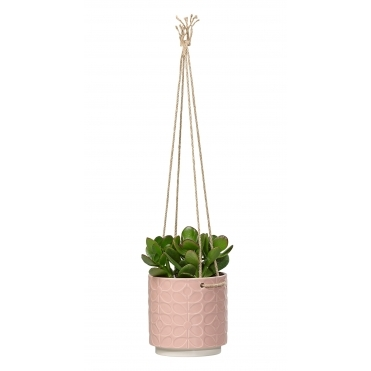 60s Stem Ceramic Hanging Plant Pot Medium - Rose