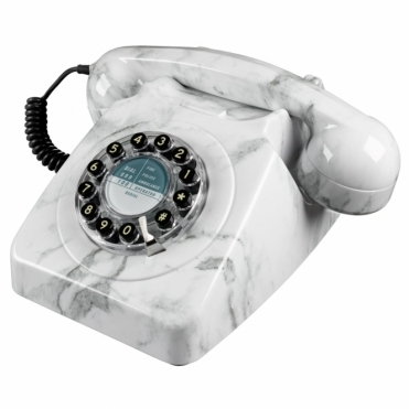 746 Marble Push Button Telephone Retro Phone