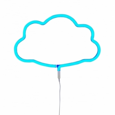 LED Neon Effect Cloud Light - Blue