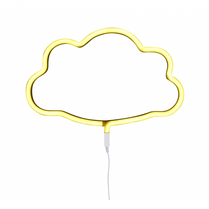 LED Neon Effect Cloud Light - Yellow