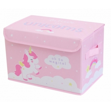 Pop Up Toy Storage Box - Unicorn