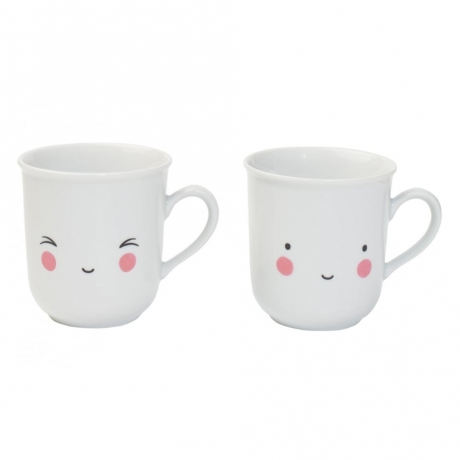 A Little Lovely Company Thirs-tea Fun Mugs - Set of 2