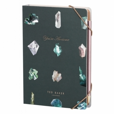 A5 Notebook With Sticky Notes & Pencil - Linear Gem