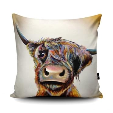 Adam Barsby A Bad Hair Day Cow Cushion With Insert