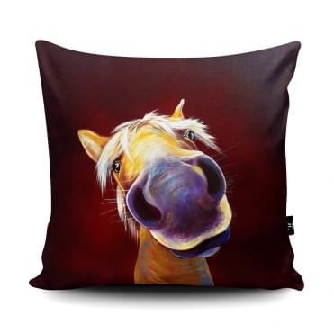 Adam Barsby Love Me Do Horse Cushion With Insert