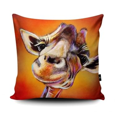 Adam Barsby Smile High Giraffe Cushion With Insert