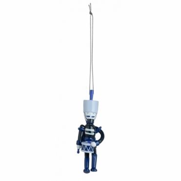 Blue Christmas Tree Ornament - Soldier