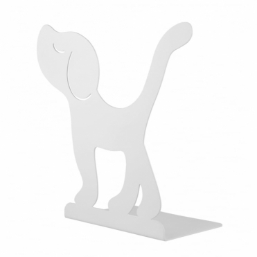 Dog Bookend / Montparnasse Book Stand - White