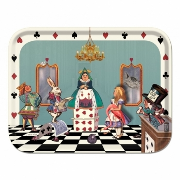 Alice in the Court of Hearts Tray by Louise Kirk