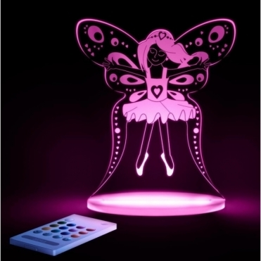 Fairy SleepyLight Colour Changing LED Night Light with Remote - FREE TOADSTOOL Insert