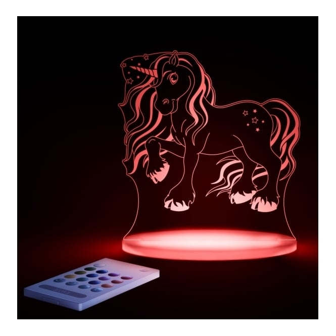 Aloka Magic Unicorn SleepyLight Colour Changing LED Night Light With Remote
