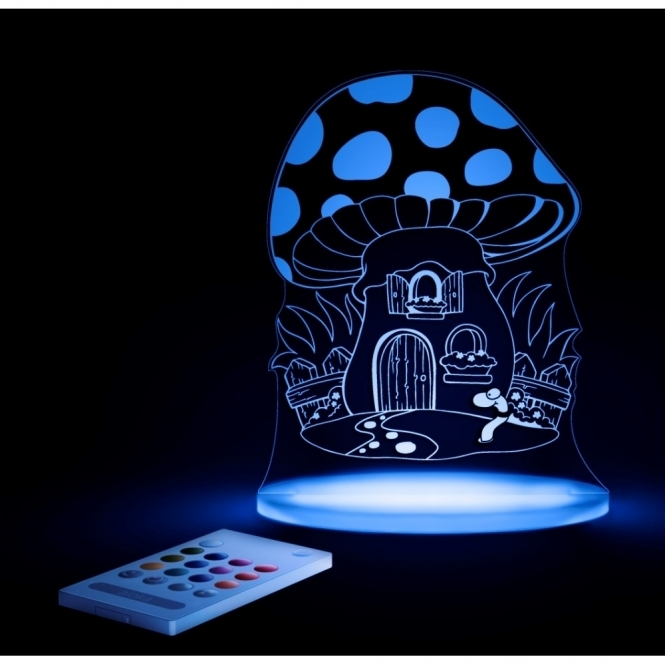 Aloka Toadstool SleepyLight Colour Changing LED Night Light with Remote - FREE FAIRY Insert