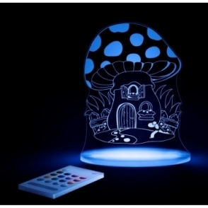 Toadstool SleepyLight Colour Changing LED Night Light with Remote - FREE FAIRY Insert