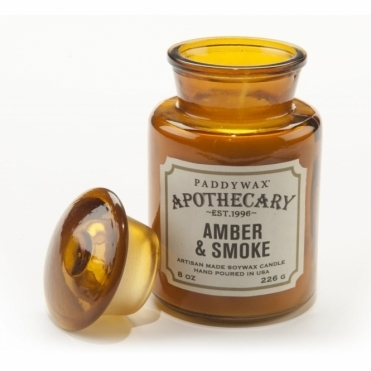 Amber Apothecary Bottle Candle - Amber & Smoke