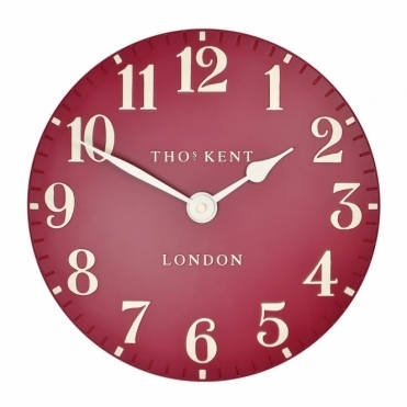 Arabic Small 12 inch Wall Clock Red