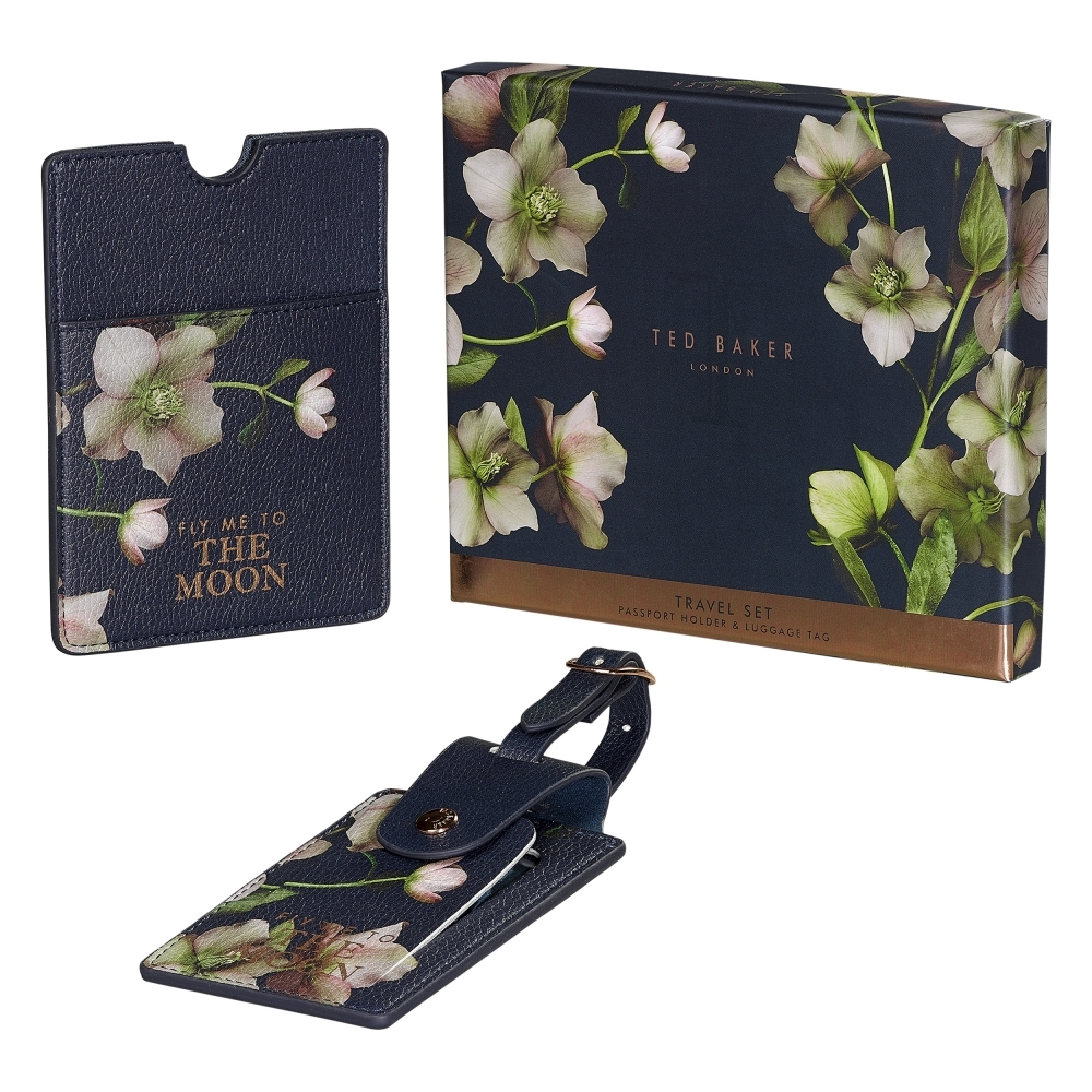 2e96b6a5a83fea Ted Baker Womens Arboretum Passport Holder   Luggage Tag Travel Set