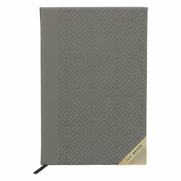 Ash Grey Geometric A5 Notebook