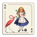Avenida Home Alice In Wonderland Alice Placemat by Louise Kirk