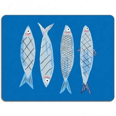 Avenida Home Sardines Table Mat by Danielle Kroll