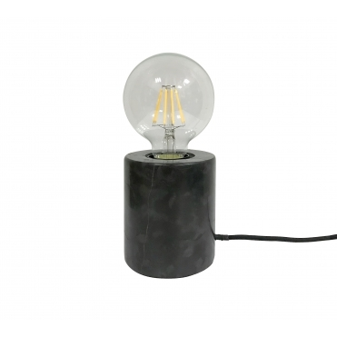 Bar Table Lamp - Black Marble