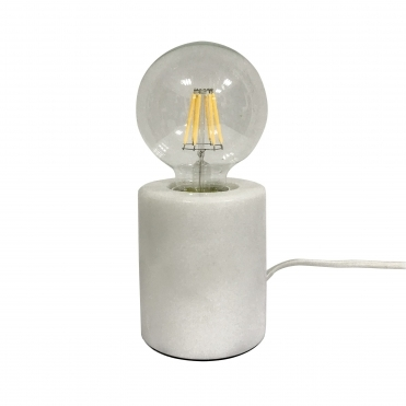 Bar Table Lamp - White Marble