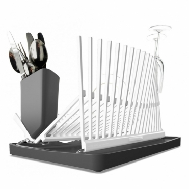 Dish Rack White Folding Dish Drainer