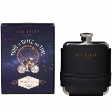 Black Brogue Hip Flask