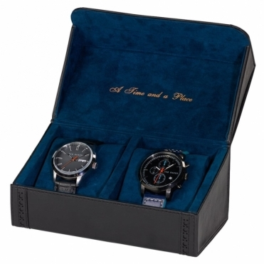 Black Brogue Watch Storage Case