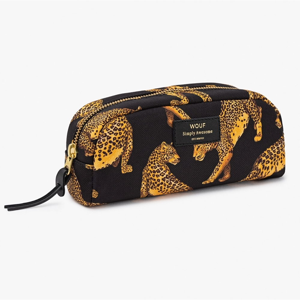 Wouf Black Leopard Beauty Cosmetic   Makeup Bag Small dc47eeccd7