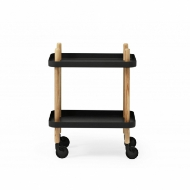 Block Side Table Black