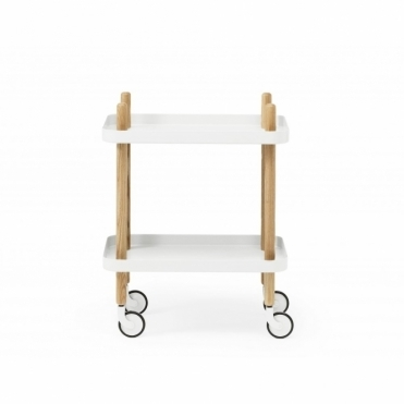 Block Side Table White